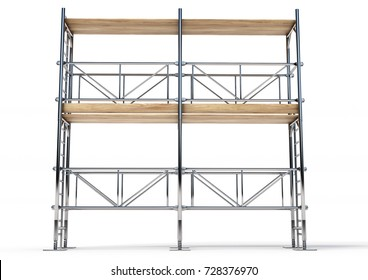 A scaffold made in 3D software.
