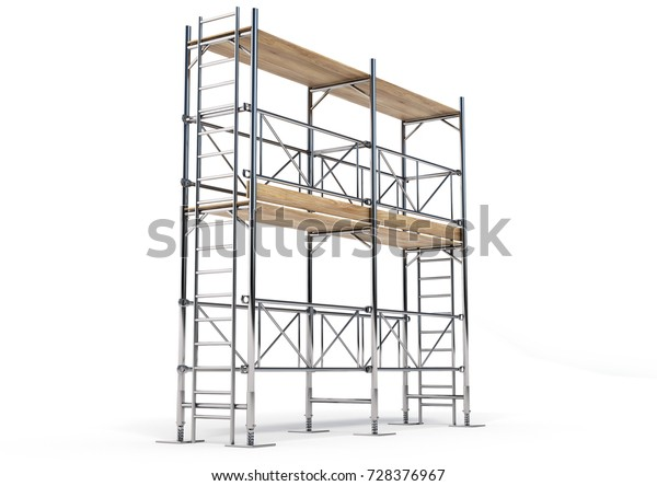 Scaffold Made 3d Software | Royalty-Free Stock Image