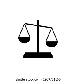 Scale of justice simple black icon isolated on white