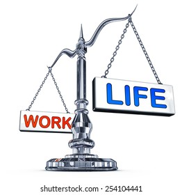 scale with work and life icons