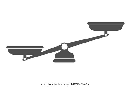 Scales, Flat design, Libra, illustration isolated on white background