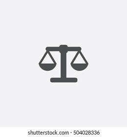 scales icon, isolated, white background