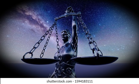 Scales of Justice symbol - legal law concept image 3d rendering