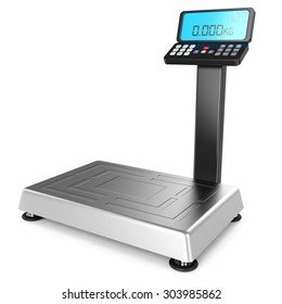 scales for weighing heavy objects and goods, isolated on white background