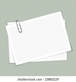 scalloped edge notes on patterned background