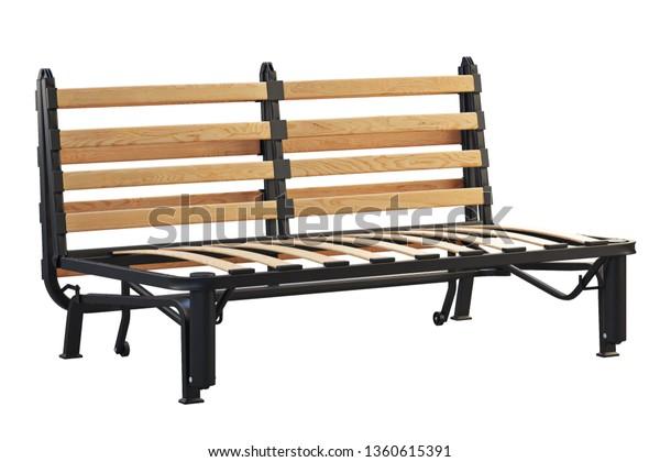 Scandinavian Double Folding Bed Frame On Stock Illustration