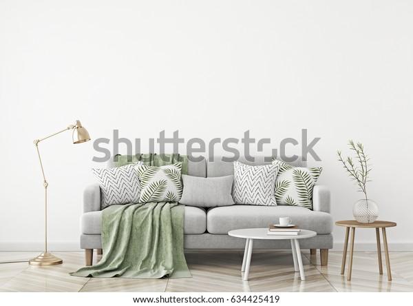 Pleasant Scandinavian Style Livingroom Fabric Sofa Pillows Machost Co Dining Chair Design Ideas Machostcouk