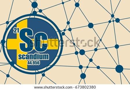 scandium chemical element sign atomic 450w 673802380 scandium chemical element sign atomic number stock illustration