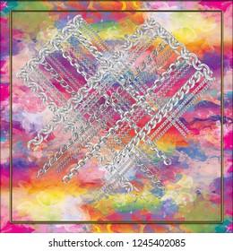 scarf pattern print geometric,metal objet background pattern