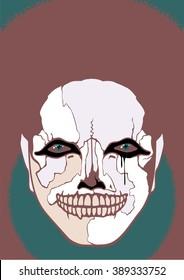 Scary clown (raster version)