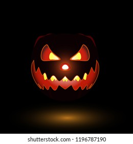 Scary helloween pumpkin