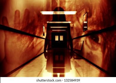 Scary Hospital Corridor Yurei Ghost Appear