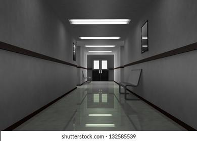 Scary Hosptial Corridor