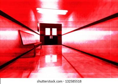 Scary Hosptial Corridor Yurei Ghost Appear