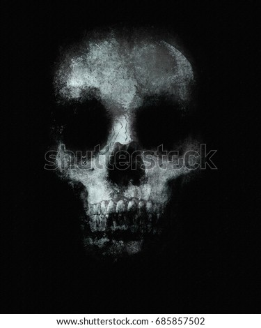 Scary skull wallpaper. Halloween background with spooky skull.