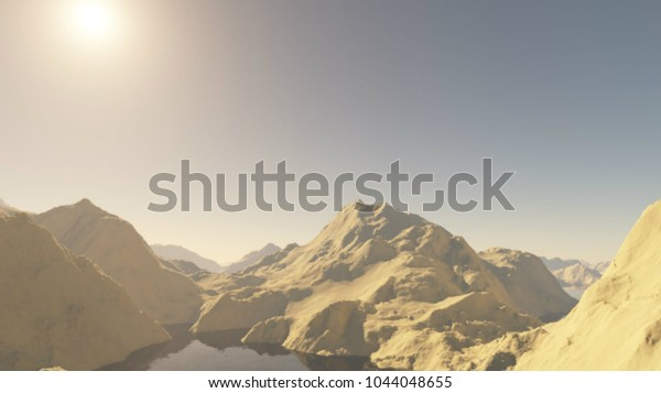 scenic views mountains3d illustration fantastically 600w 1044048655