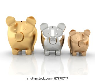 Schedule of savings made up of piggy banks