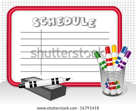 schedule whiteboard create your list on stock illustration 16791418