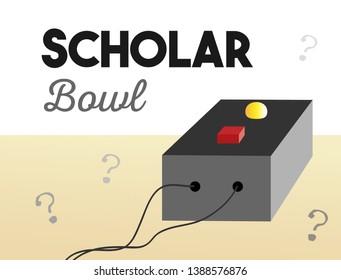 Scholar Bowl Trivia Buzzer Illustration