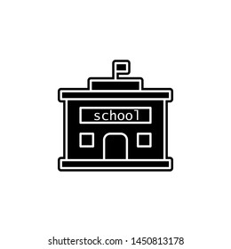 school, building icon. Simple glyph, flat illustration of Buildings icons for UI and UX, website or mobile application