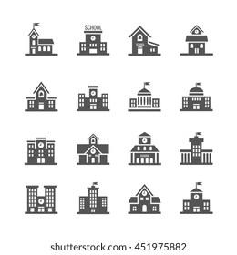 School building icons