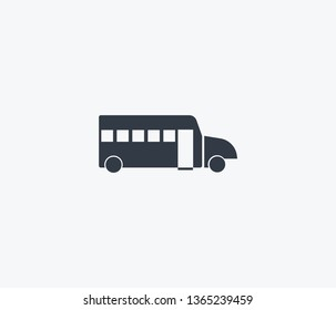 School bus icon isolated on clean background. School bus icon concept drawing icon in modern style.  illustration for your web mobile logo app UI design.