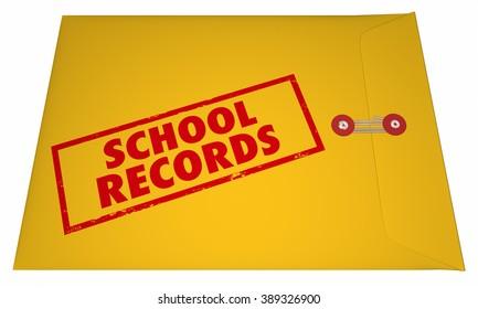 School Records Student File Transcripts Grades College Education 3D