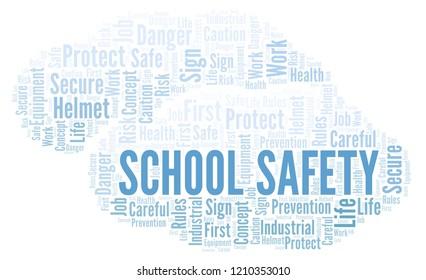 School Safety word cloud.