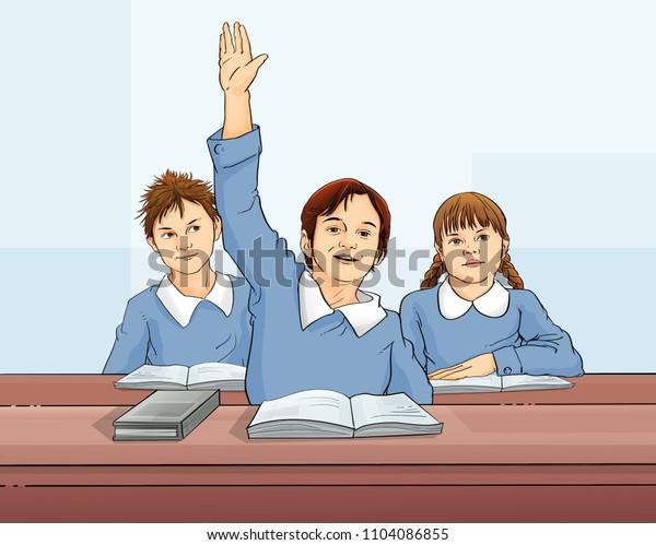 school students illustration