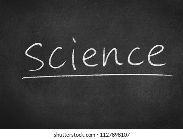 science concept word on a blackboard background