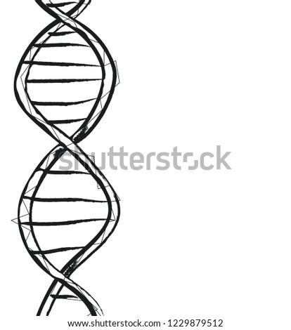 Science Dna Code Structure Chromosomes Radiate Stock Illustration