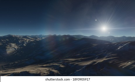 science fiction illustration, beautiful space background, a computer-generated surface, a fantasy world 3d render