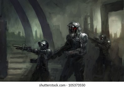 science fiction marines in war
