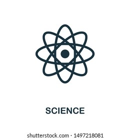 Science icon illustration. Creative sign from biotechnology icons collection. Filled flat Science icon for computer and mobile. Symbol, logo graphics.