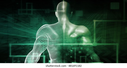 Science Technology Body Concept as an Abstract 3D Render