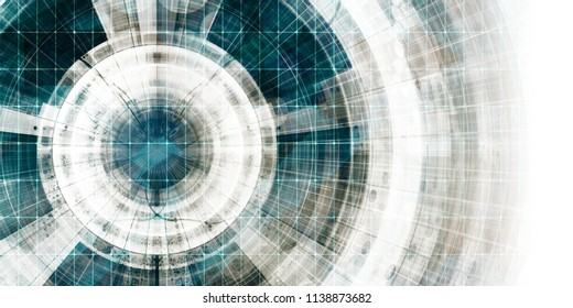 Science Technology as a Futuristic Abstract Background Art