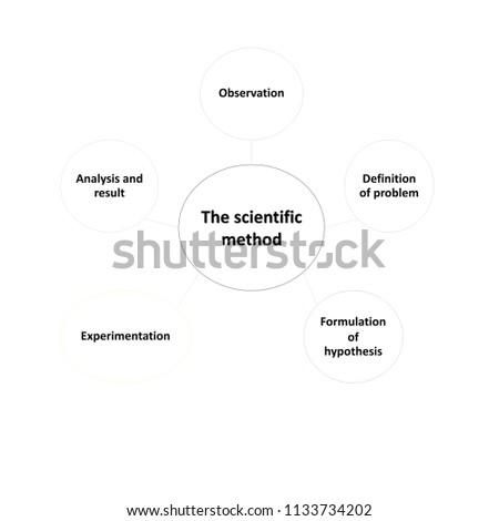 Scientific Method Concept Diagram Stock Illustration 1133734202