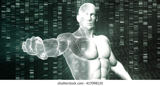 Scientific Research and Genetic DNA Science Concept 3D Illustration Render