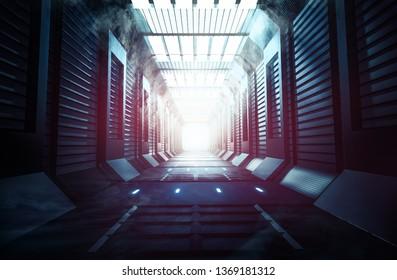 Sci-Fi  Future  Background 3D Rendering