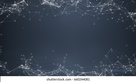 Sci-fi gray plexus shape. Futuristic technology concept. Computer generated abstract background