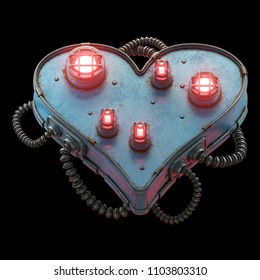 Sci-fi light heart. 3d rendering