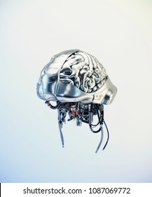 Sci-fi robotic brain organ, 3d illustration