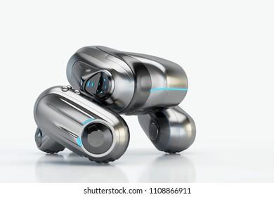 Sci-fi robotic toy, 3d illustration
