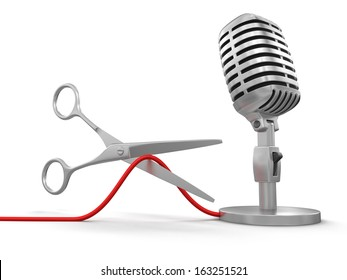 Scissors and Microphone (clipping path included)