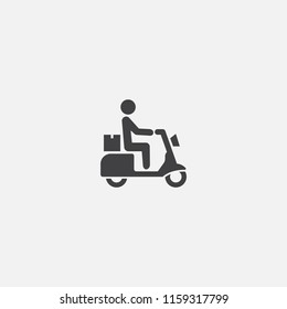 scooter delivery base icon. Simple sign illustration. scooter delivery symbol design from delivery series. Can be used for web, print and mobile