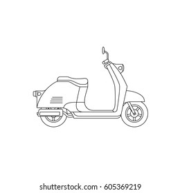 Scooter line drawing. Raster version