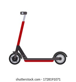 Scooter, realistic design. Raster illustration on a white background.
