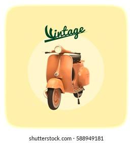 Scooter vintage, 3d rendering