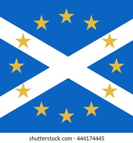 Scotland in EU, Indyref2, ScotRef - Scottish and European Union Flag