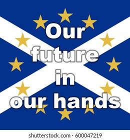 Scotland in EU, Indyref2, ScotRef - Scottish and European Union Flag Future